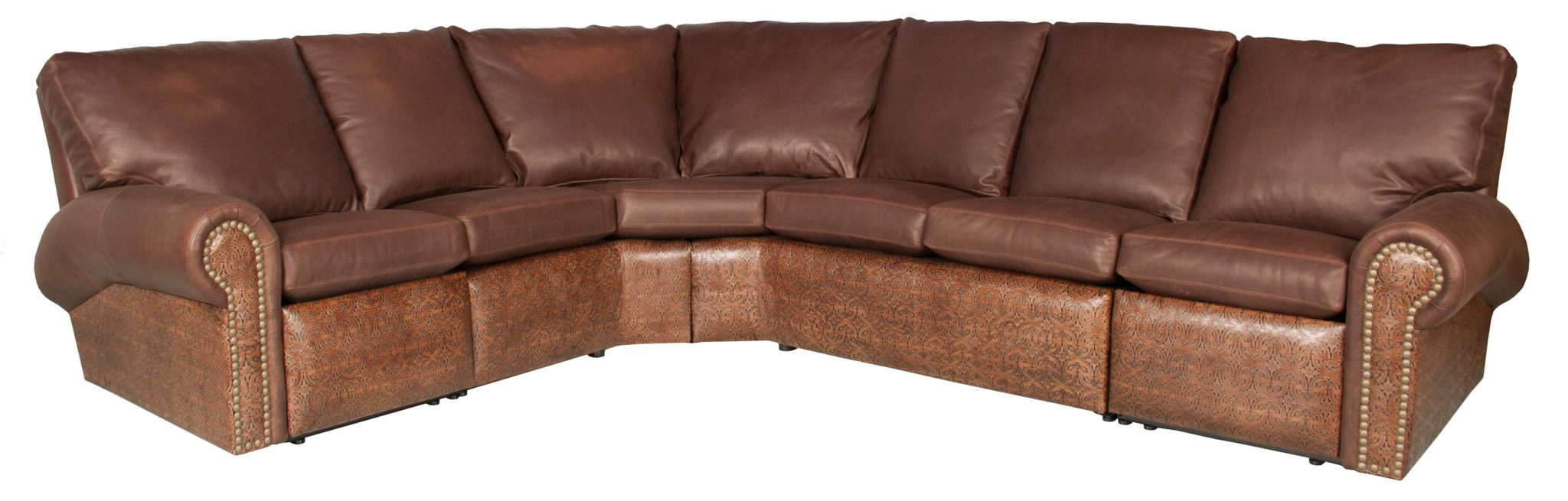 Phoenix reclining leather sectional for Sectional sofas phoenix