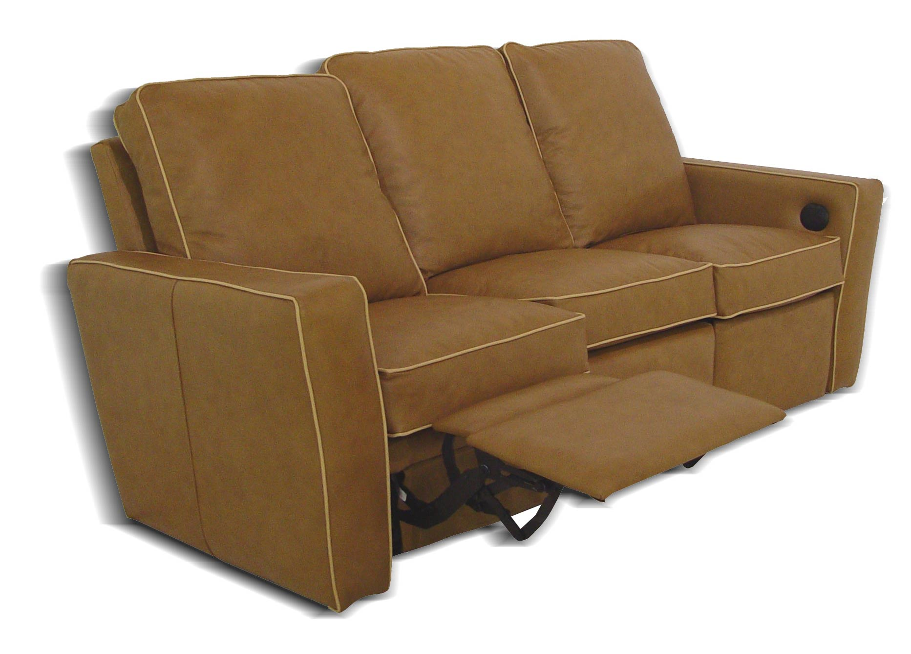Tuxedo reclining leather sofa Leather loveseat recliners