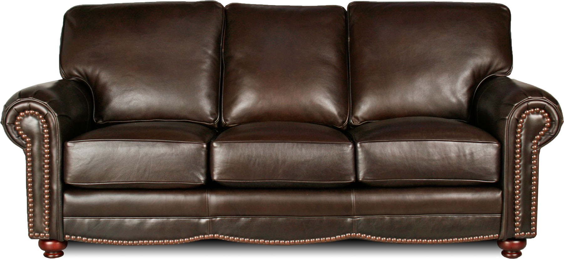 Loading zoom Traditional Leather Sofa Atlanta