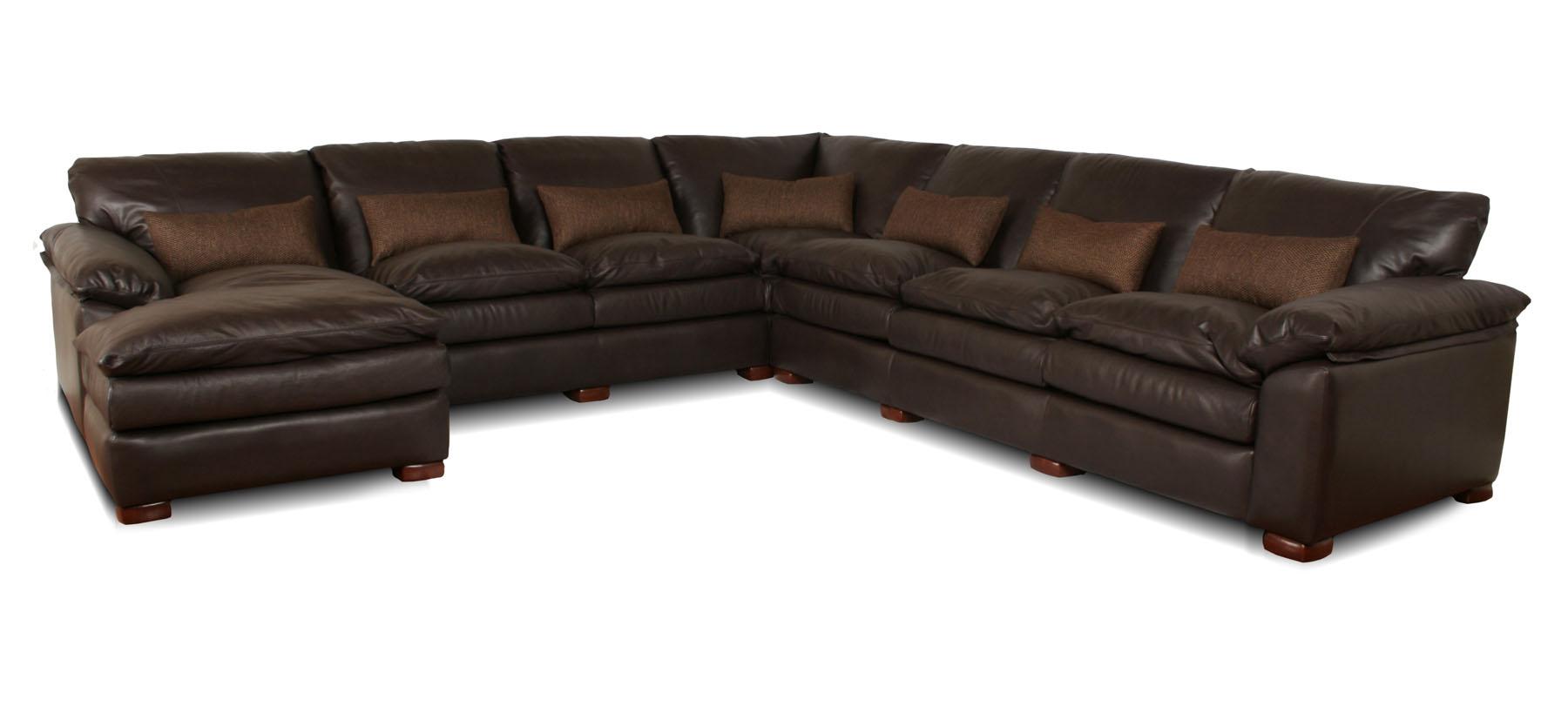 Geneva deep leather sectional Deep sectional sofa