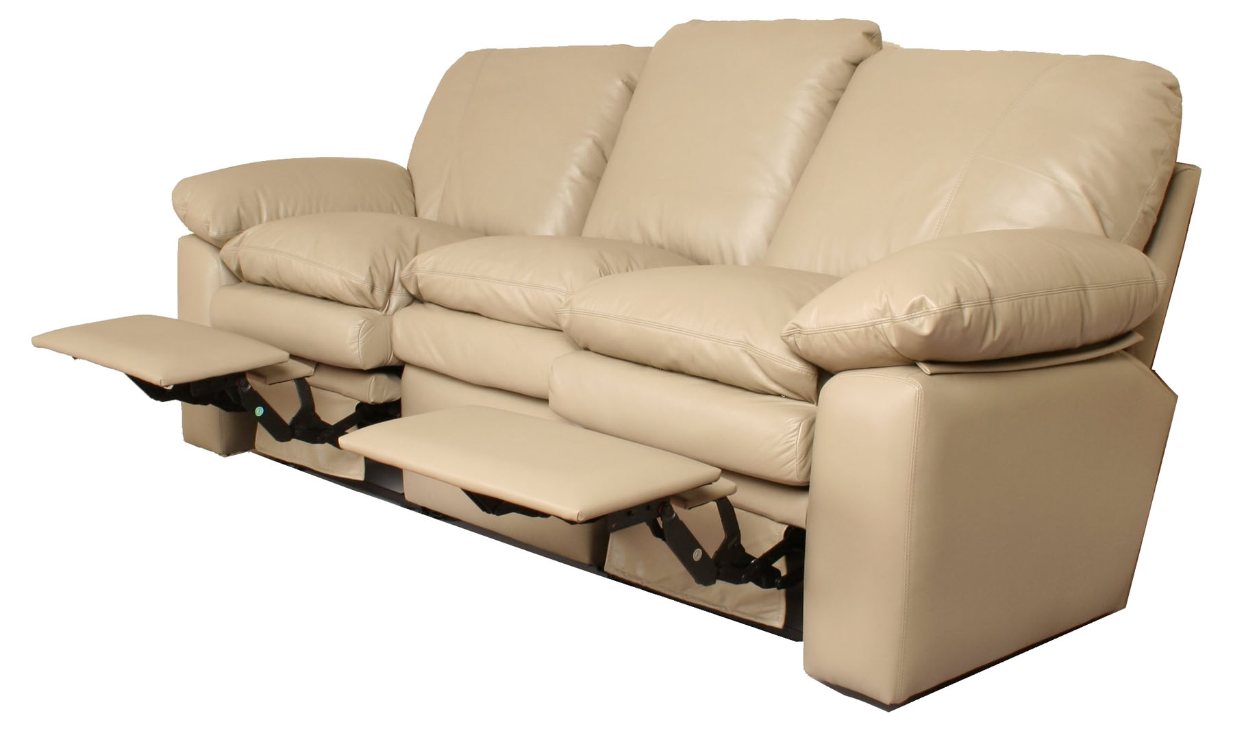 Carrera reclining leather sofa Leather loveseat recliners