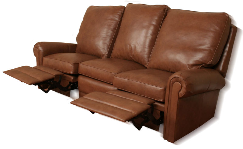 Virginia reclining leather sofa for Sectional sofas virginia
