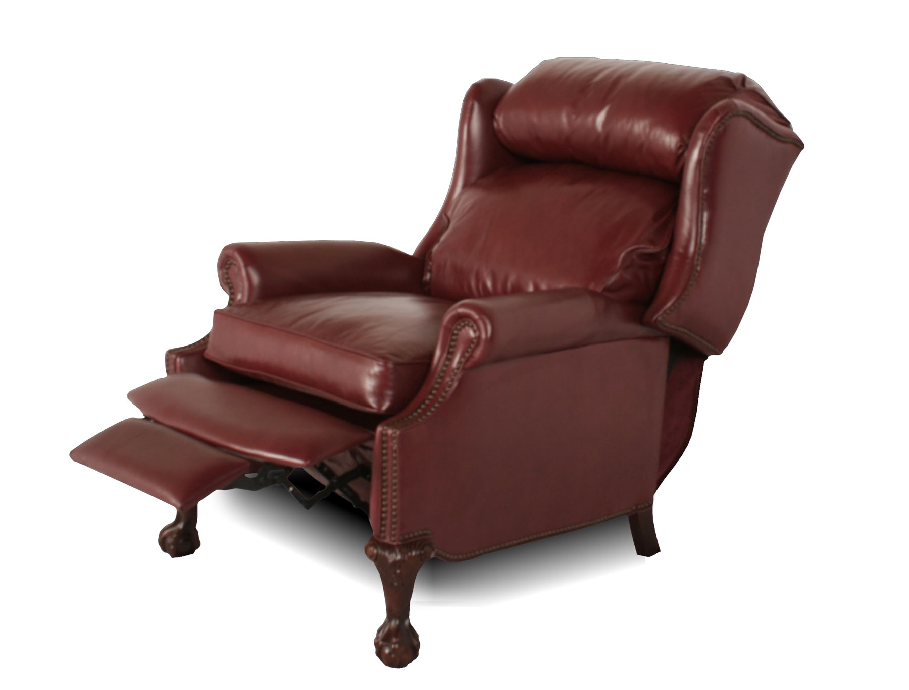 Wingback leather recliner for Wing back recliner chair
