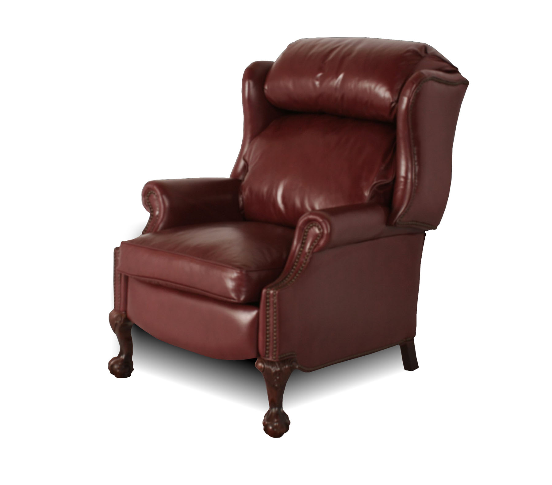 Leather wingback recliner chair wingback leather for Wing back recliner chair