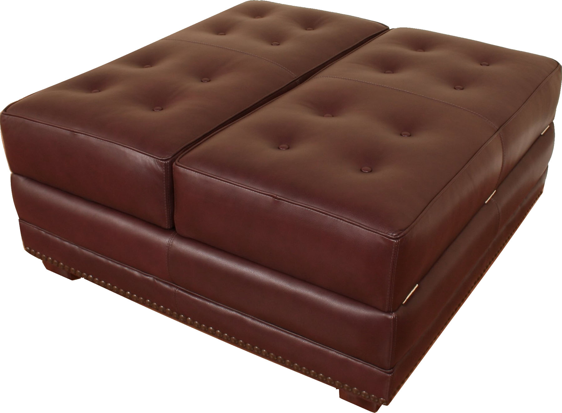 976 square leather ottoman leather creations furniture custom leather furniture in atlanta austin chicago - Brown Leather Ottoman