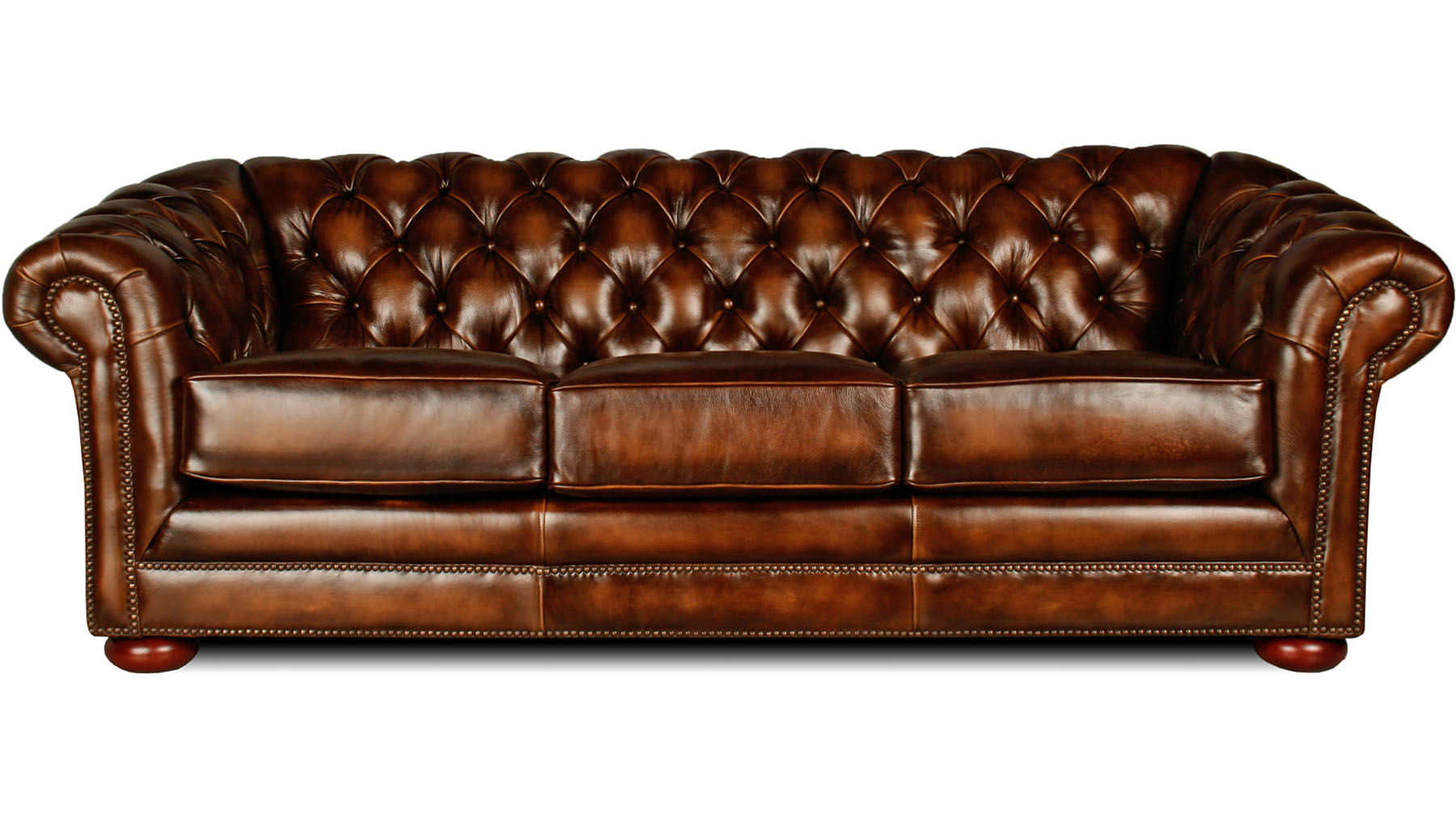 Leather Sofa Chesterfield Enchanting Tufted