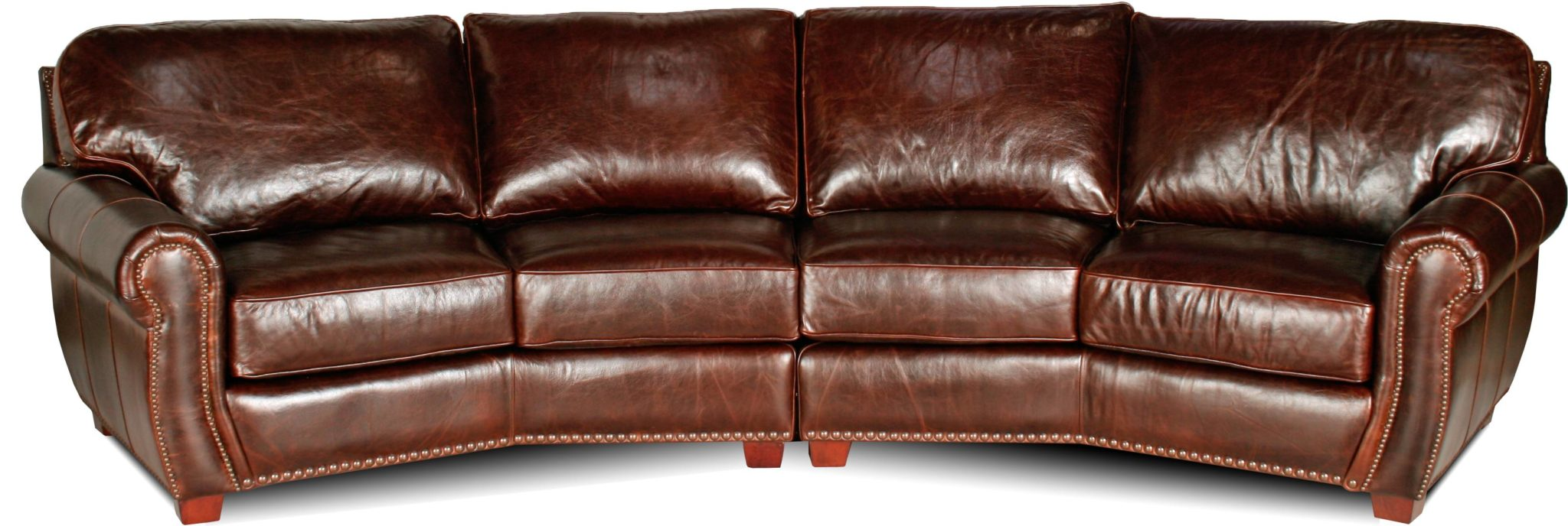 Berkshire leather sectional for Leather sectional sofa