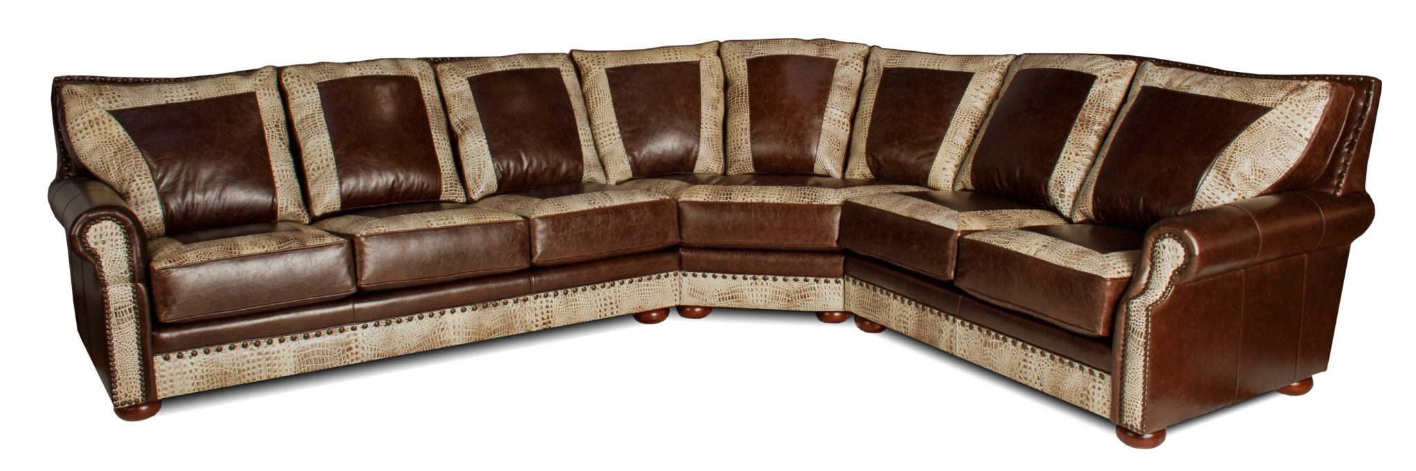 Leather creations leather furniture recliners for Leather sectional sofa