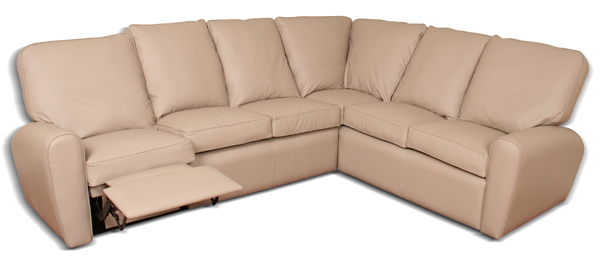 Tan-reclining-leather-sectional