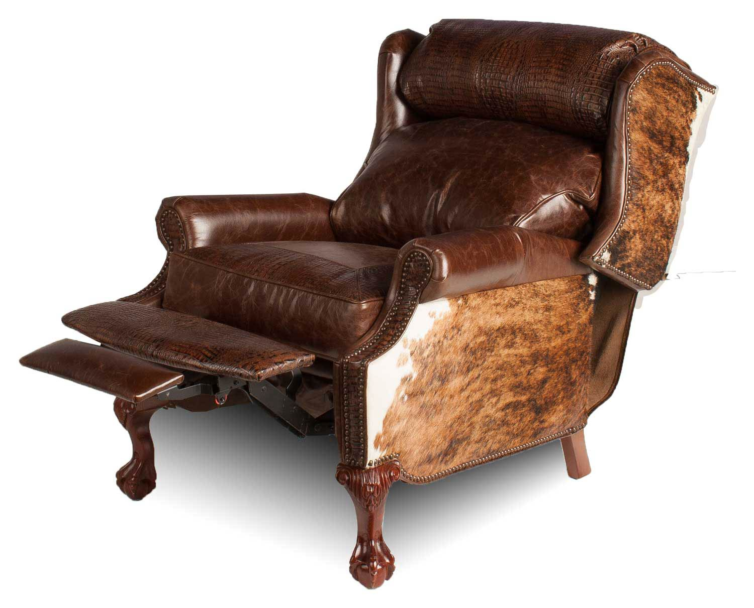 Wing-Back-angled-leather-recliner