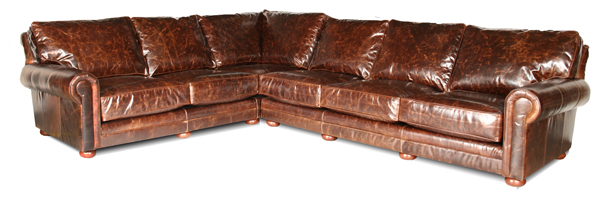 kingston deep leather sectional